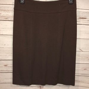 Bcbg maxazria Brown stretch skirt medium